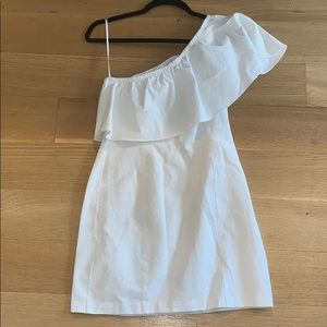 A.L.C. white one shoulder dress
